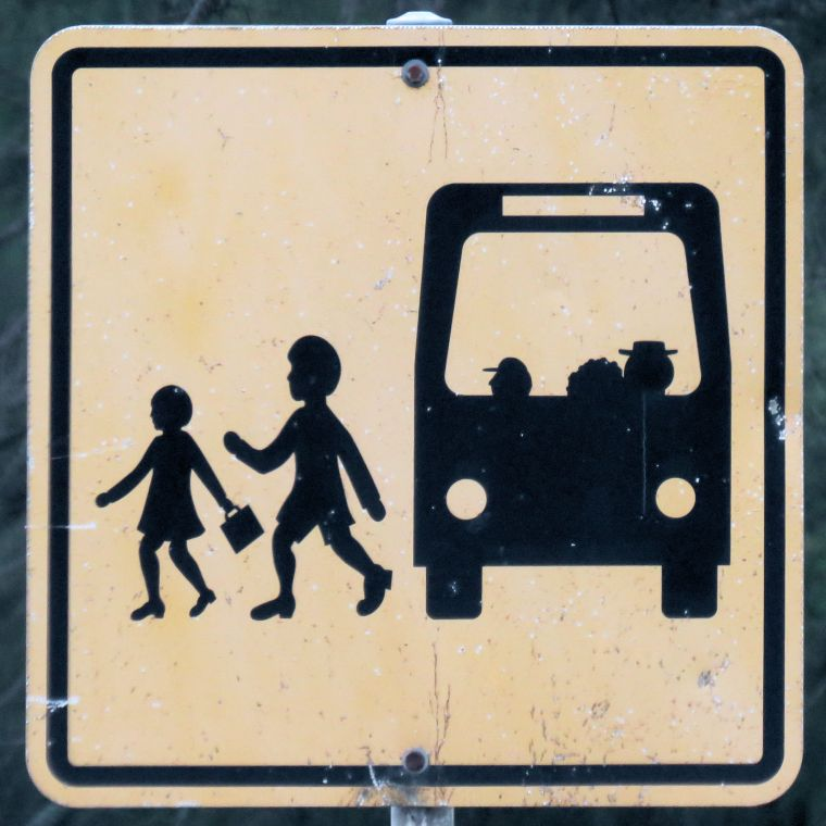 road signs_bus stop