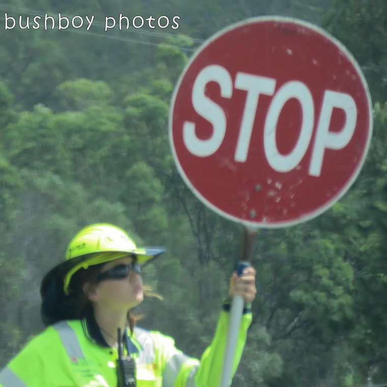 road signs_stop woman