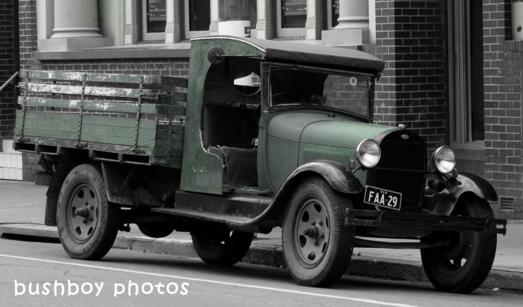 180406_blog challenge_blackandwhite_cars_trucks_motorcycles_old truck_murwillumbah