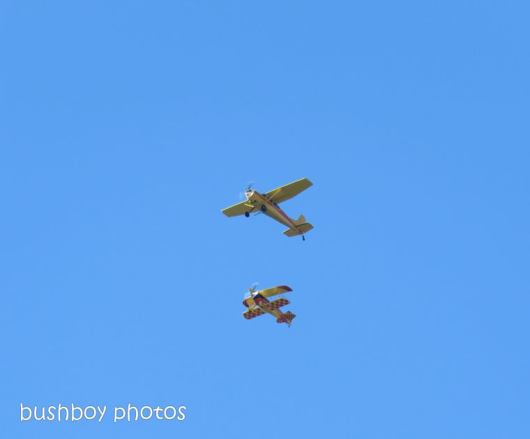 two planes_flying_lismore air show_named_july 2018