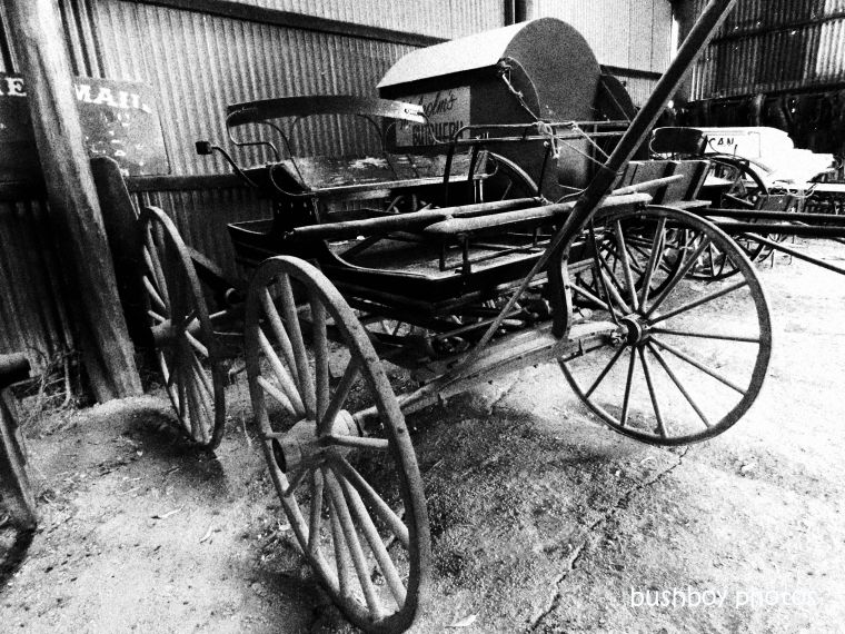190824_blog_challenge_blackandwhite_things_wood_wagon_inverell