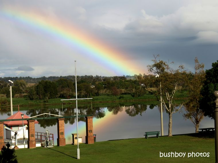 190911_blog_challenge_happenstance_rainbow_grafton_clarence_river_reflection